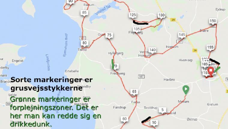 Planlæg køreturen under GP Himmerland