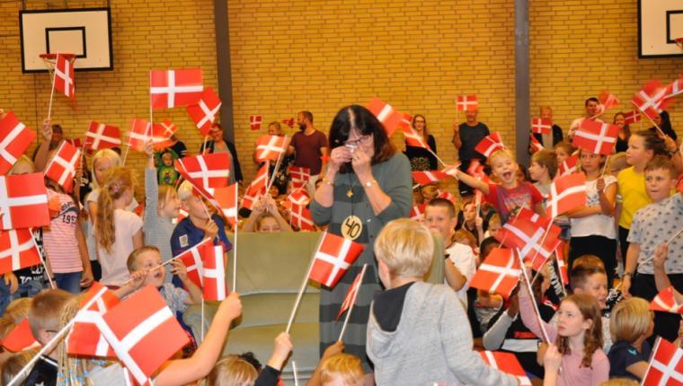 Marianne Henriksens 40 år på Aars Skole blev fejret