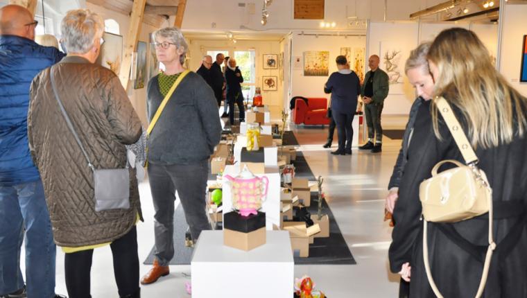 Kantet kunst på Galleri Himmerland i Gatten