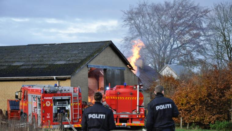 Mand anholdt i forbindelse med brand i Hornum