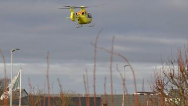 Den fjerde akuthelikopter har været på sin første opgave