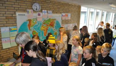 Nyt flag og fællessang på Østermarkskolen