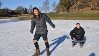Skøjtesøen i Aars er åben for skøjter