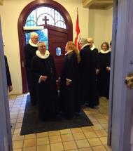 Mange tog afsked med præsten i Aars