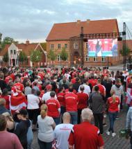Aars i rødt og hvidt så Danmark tabe ved EM