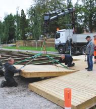 Kimbrerfesten får mere plads i Aars Lystanlæg med ny træterrasse