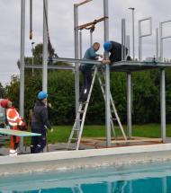 Nye vipper i Aars Friluftsbad klar i slutningen af denne uge